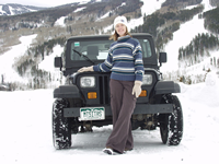 Photo of Caroline with Jeep